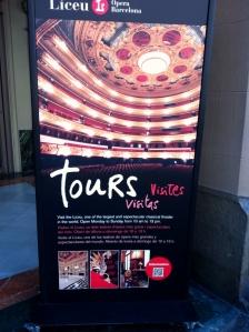 Barcelona Opera Liceu turu yapabilirsiniz