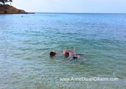 snorkel ekibi Thassos'ta